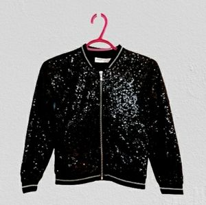 Minoti Girl's Black Sequin Jacket